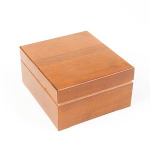 icky humidor 4 tin in natural stain boxed