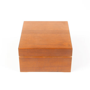icky humidor 4-Tin in Natural Stain box