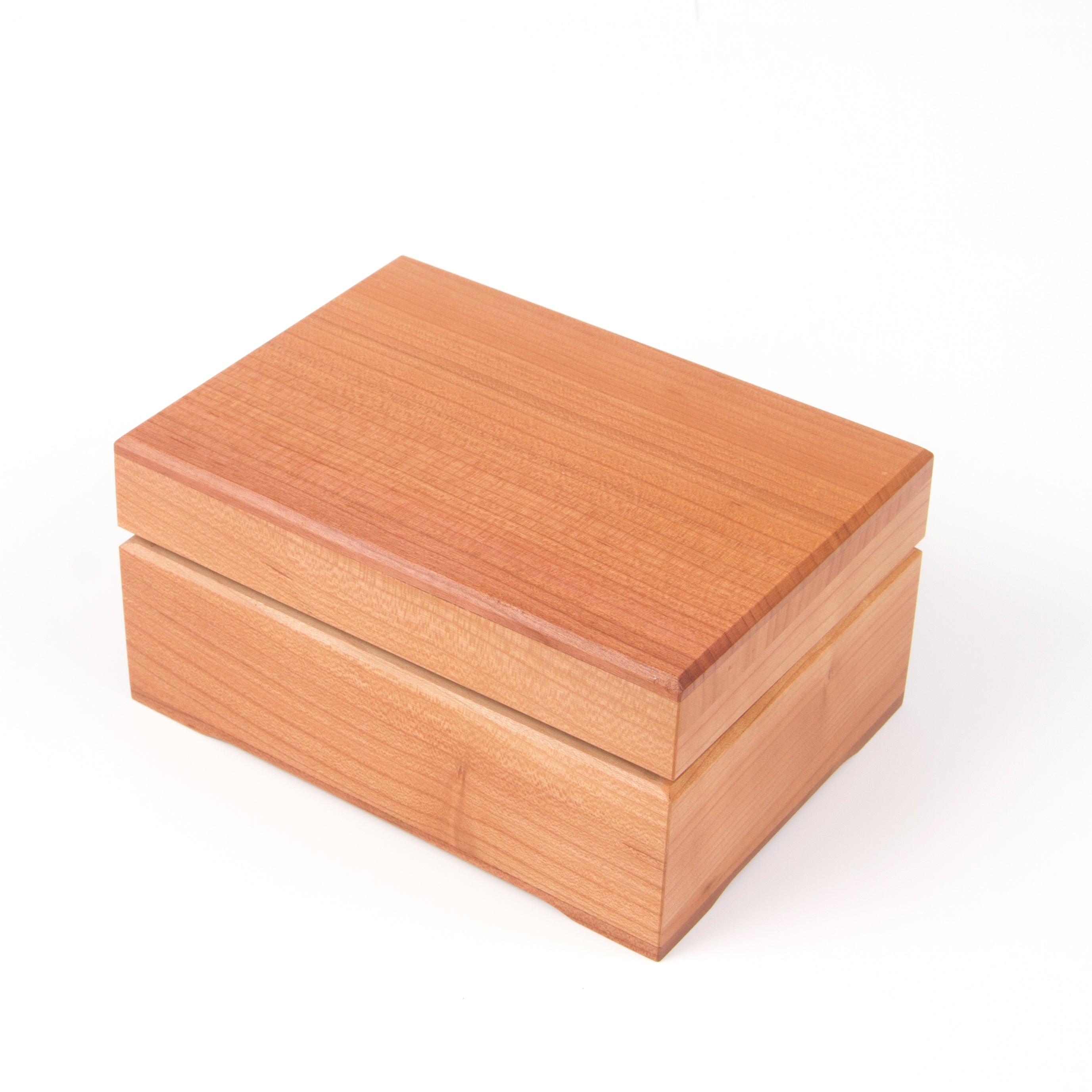 icky humidor 2 tin in natural stain closed box