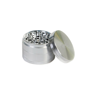 four piece herb grinder silver
