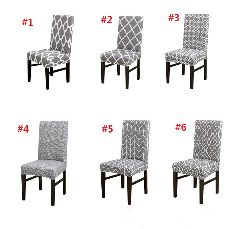 Stretch Washable Removable Dining Room Chair Covers|Decoration Chair slipcovers|Soft spandex Gray Chair Cover|Seat Covers|6 Colors