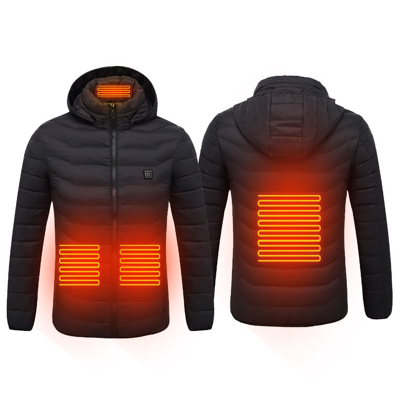 Men &Women Electric Heated Jacket |Upgraded Windproof Warm Fleece Jeakets |Lightweight Heating coat Jacket Coat with Hood