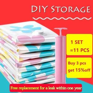 Thickened Vacuum Compressed DIY Storage Bag (11pcs)
