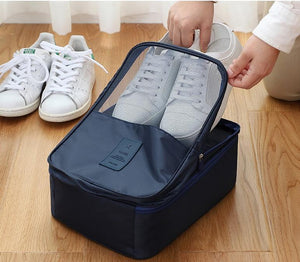 Travel Shoe Bags, Foldable Waterproof Shoe Pouches Organizer-Holds 3 Pair of Shoes