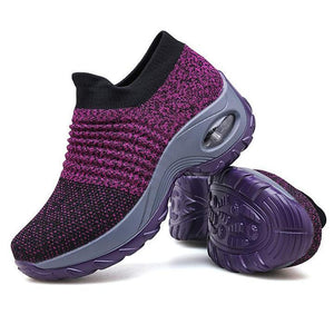 Super Soft Stretchable Women's Walking Shoes Sock Sneakers -  Slip On Shoes