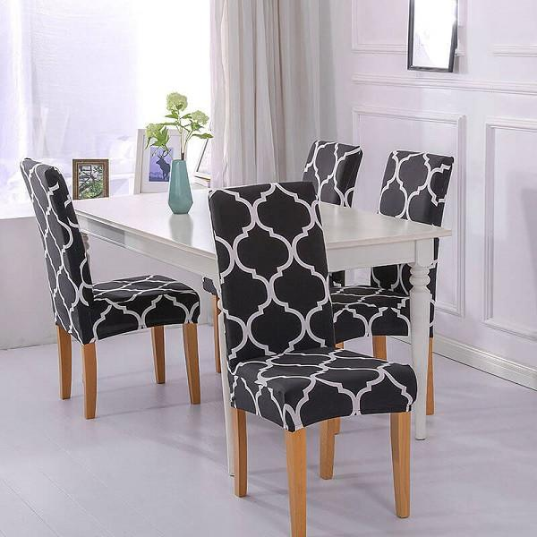 Stretch Washable Removable Dining Room Chair Covers|Decoration Chair slipcovers  for Kitchen Home Hotel|30 Colors