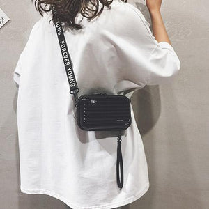 Crossbody Bag|Mini Suitcase Shape Handbag|mini backpack purse|Small Crossbody Bag