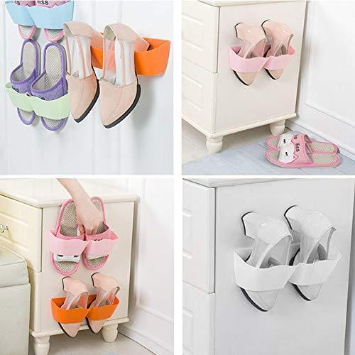 Waving Wall Mounted Shoe Rack Storage Stereo Rack Living Room Bathroom