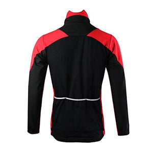 ARSUXEO Winter Warm UP Thermal Fleece Cycling Jacket Windproof 15F