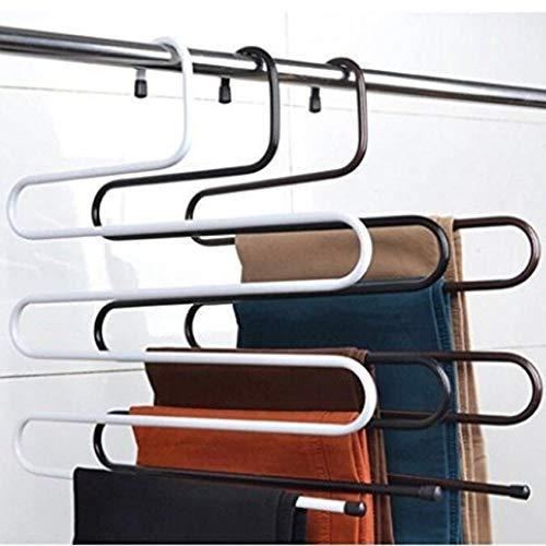 Metal Magic Pants Hanger Space Saver Rack Jeans Scarf Tie Closet Tool