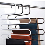 2-Pack Metal Magic Pants Hanger , Clothes Hangers ,Space Saver Jeans Scarf Tie Clothing Organizer Storage Rack