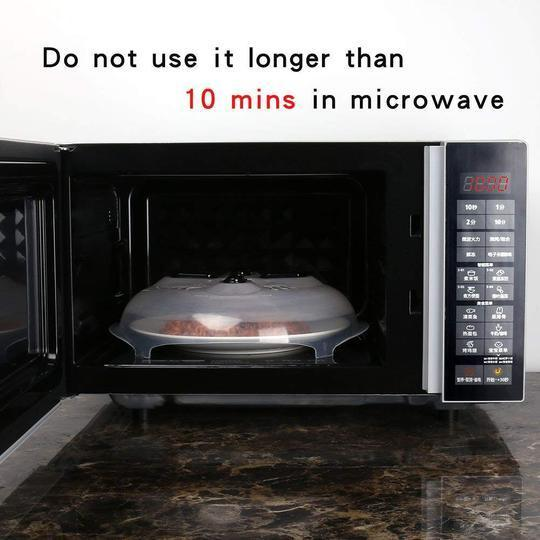 Anti-Sputtering Microwave Cover with Magnetic
