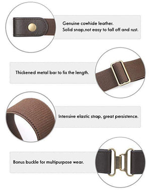 Comfortable Invisible Buckle-free Elastic  Belt For Women Men
