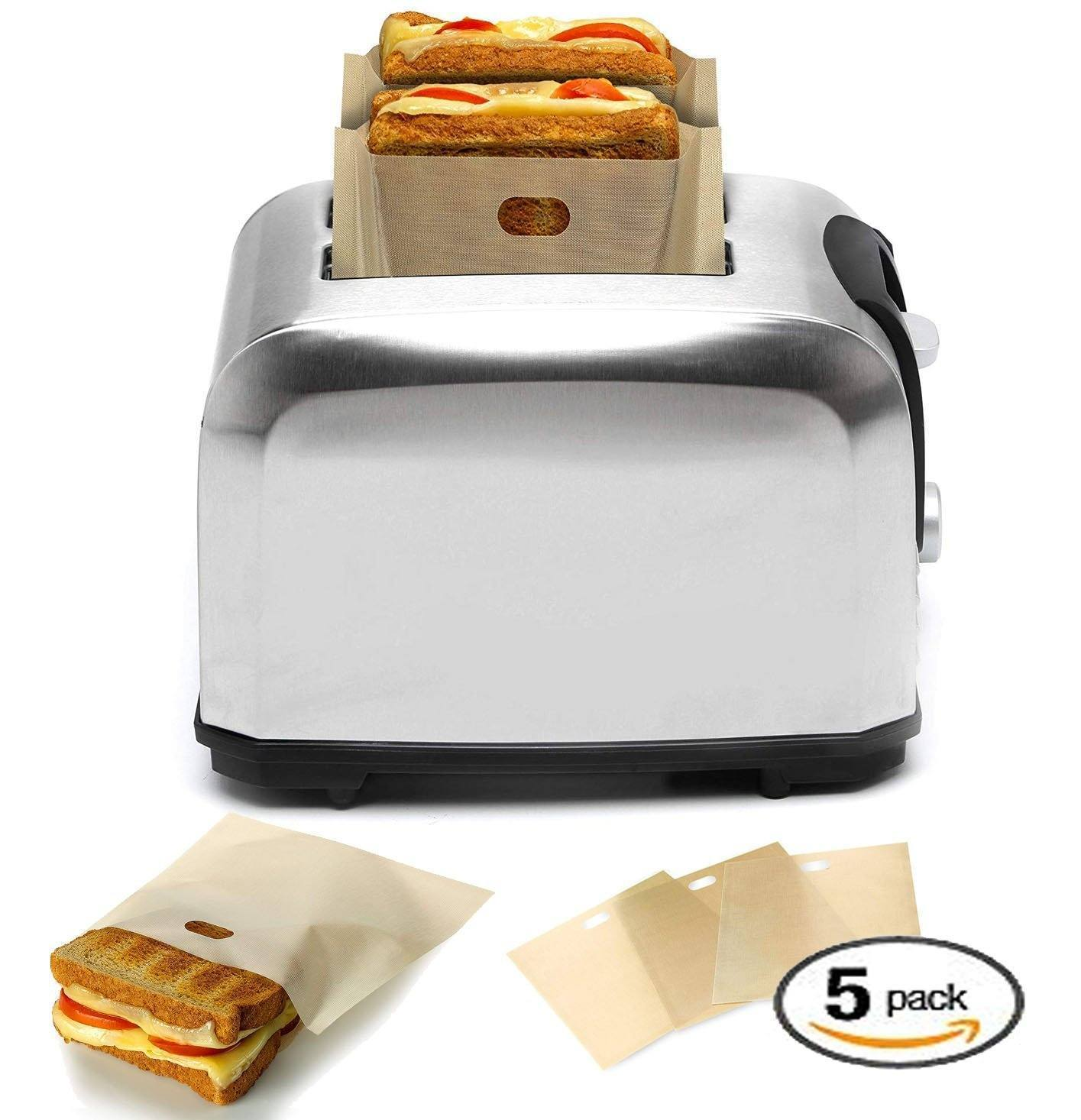 Reusable Perfect Toaster Bag (5-pcs Set)