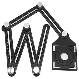 Six Folding Ruler Aluminum Alloy Adjustable Ceramic Bit Glass Opening Positioner