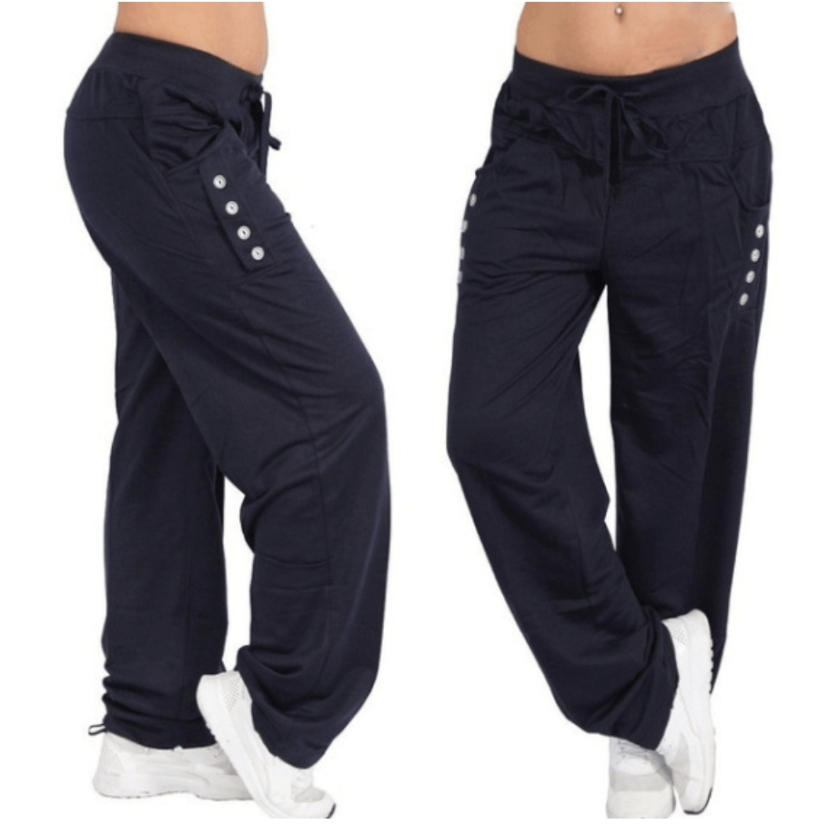 Casual High Waist Oversized Loose Sports Pants