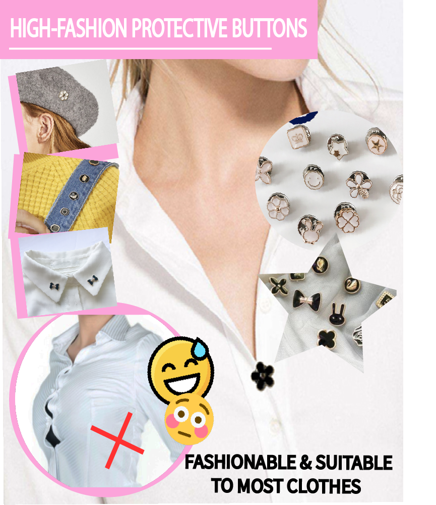 High-Fashion Protective Buttons