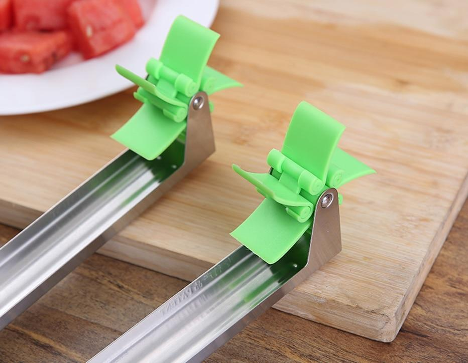 Watermelon slicer,Watermelon Cutter-Watermelon Cube Cutter Slicer Cantaloupe Melon Windmill Cutting Tool