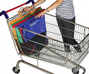 Shopping Cart Trolley Bags -4 Reusable Grocery Bags