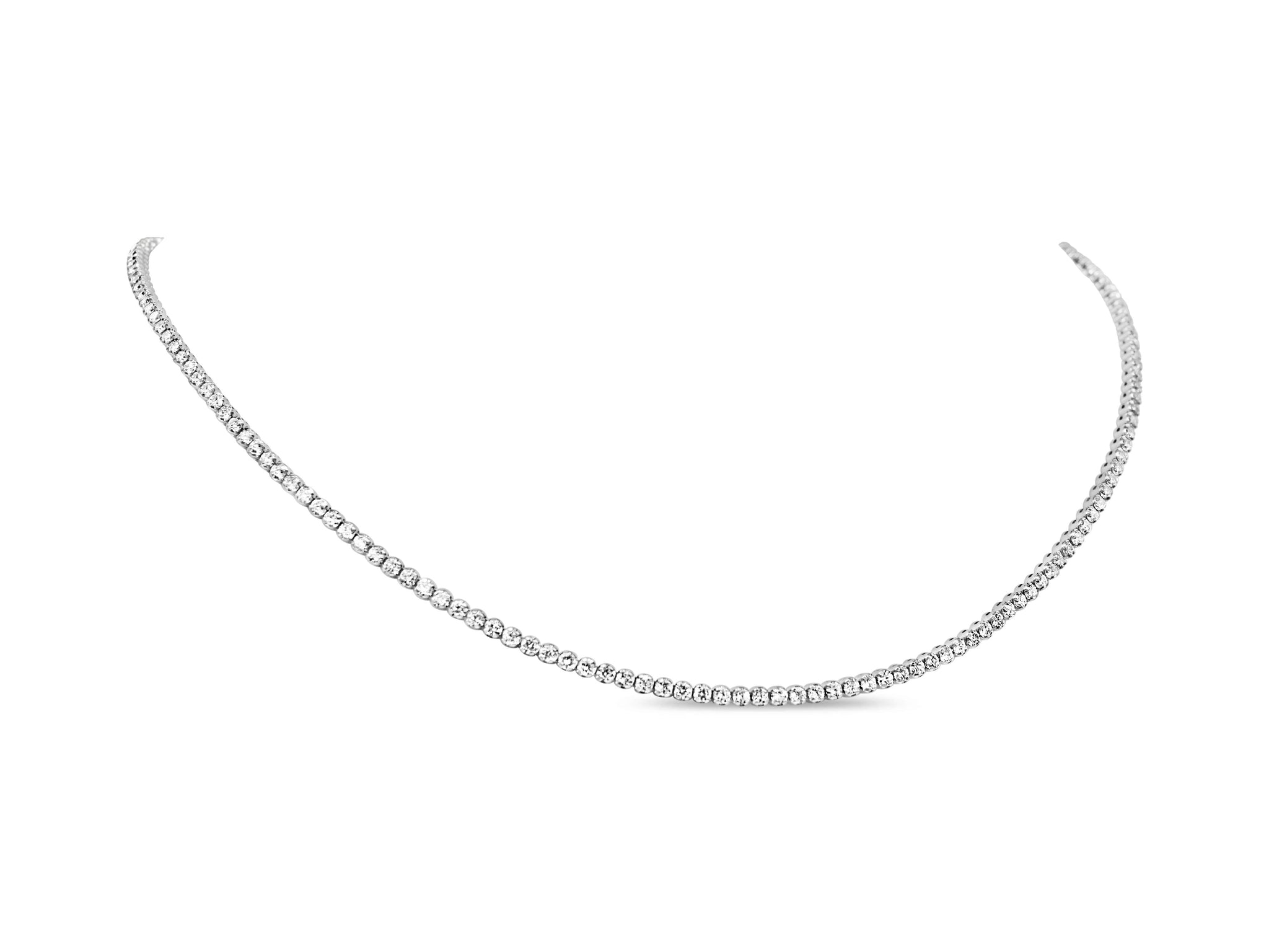 Everyday Dainty Diamond Tennis Necklace