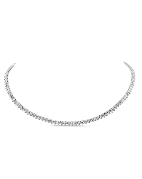 KC 3 Prong Tennis Necklace 2mm Diamonds