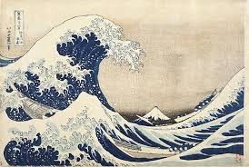 Hokusai Says Poem, Great Wave Image