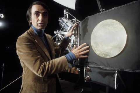 Carl Sagan's Golden Record Orbiting in Space