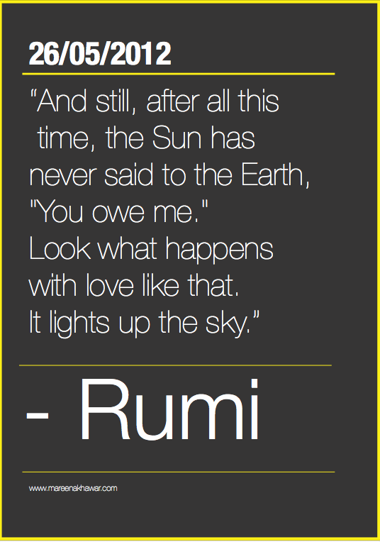 rumi post cards