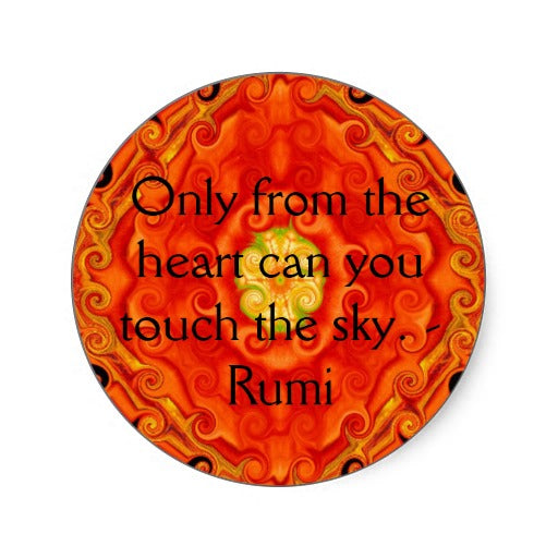 Rumi art, rumi spiritual, rumi post card