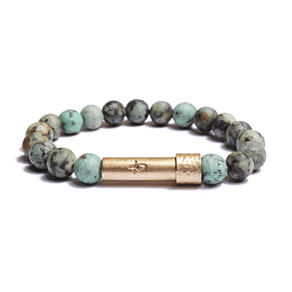 African Turquoise Intention Bracelet | Purpose + Positivity