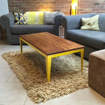 'Foundry' Iroko & steel coffee table