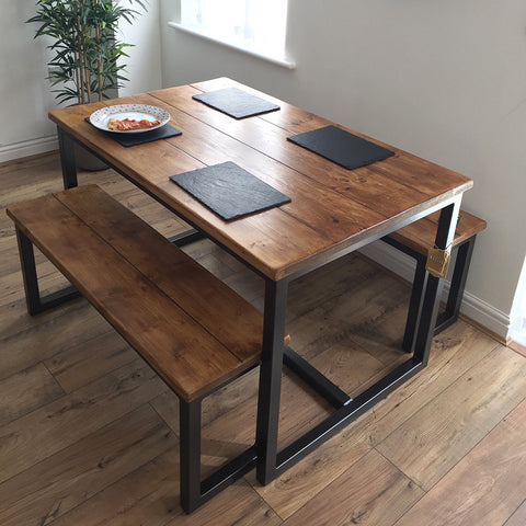 Bespoke Harnall Dining Table & Benches