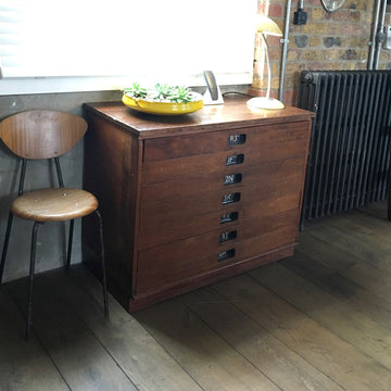 Vintage School Plan Chest