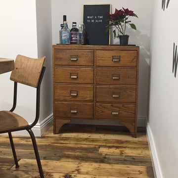 Vintage Oak School Drawers - fully restored