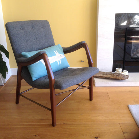 Mid century danish armchair, restored and upholstered to order
