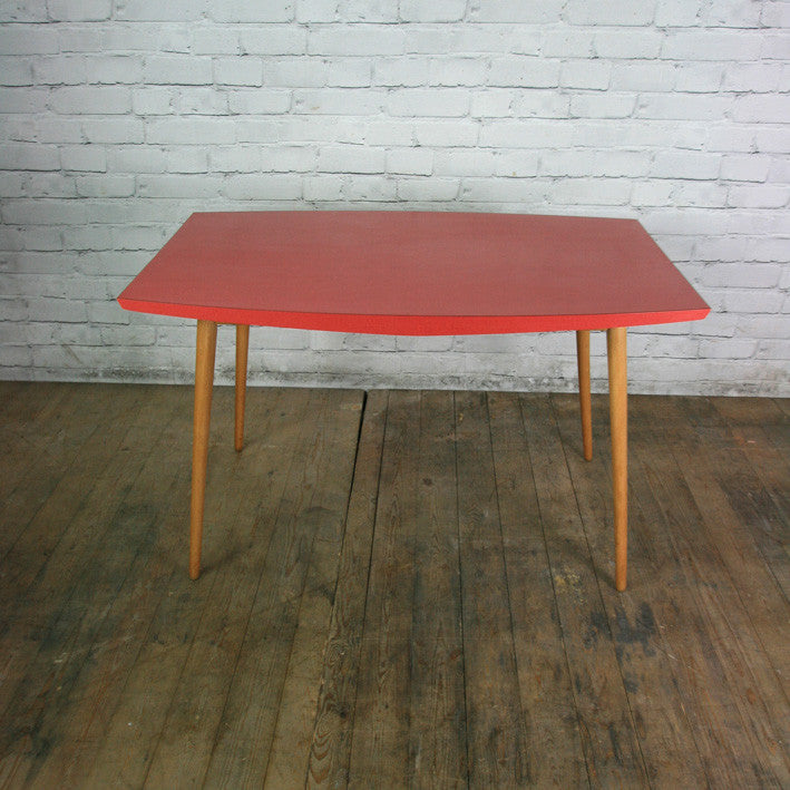 Vintage 1950s red formica vintage table or desk