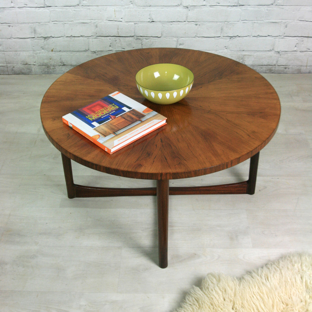 Vintage Mid Century Rosewood Coffee Table