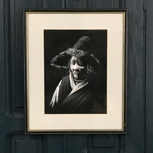 Vintage 'Peruvian' Hand Painted Portrait Framed #1