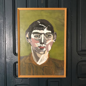 Mid Century Framed Portrait 'Louis'