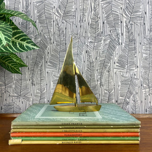 Mid Century Brass Sailing Boat - A1a