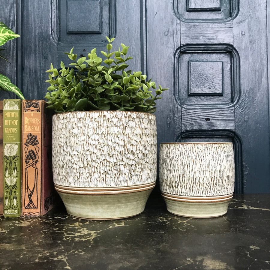 Small Vintage Textured Plant Pot