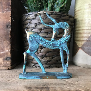 Vintage Bronze 'Gazelle' Ornament