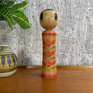 Vintage Japanese Kokeshi Doll B6a - MEDIUM