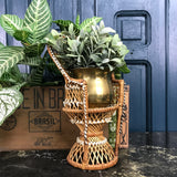 Vintage Miniature Boho Peacock Chair Planter #3
