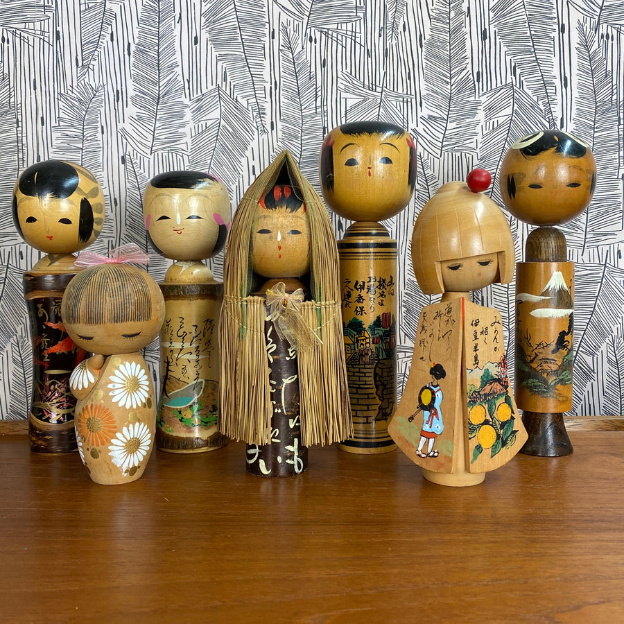 Vintage Japanese Kokeshi Doll B3a - MEDIUM