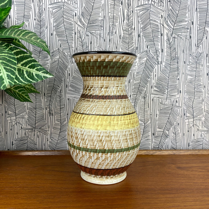 Mid Century West German Ceramic Vase - 116