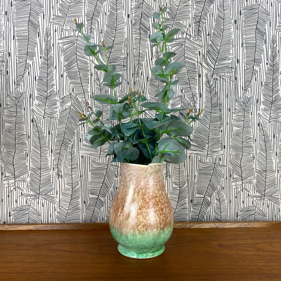 Art Deco Pink/Green Vase - Tulip