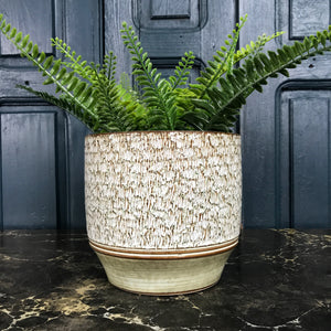 Large Vintage Textured Plant Pot