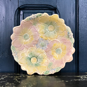 Vintage 'Pastel flowers' Ceramic Bowl