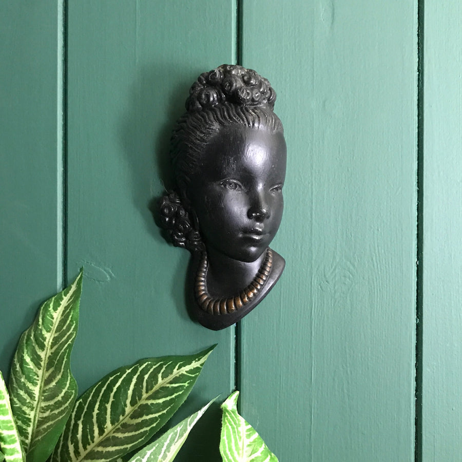 Mid Century African Lady Wall Plaque #2